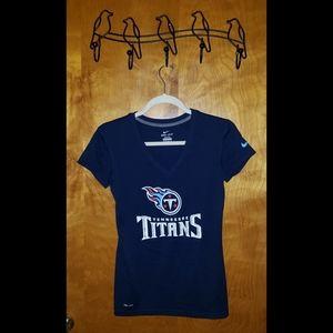 Nike Dri-Fit Tennessee Titans Navy Blue T-Shirt